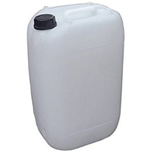 Plastic Jerrican size 25litres available at Marine Fish Shop